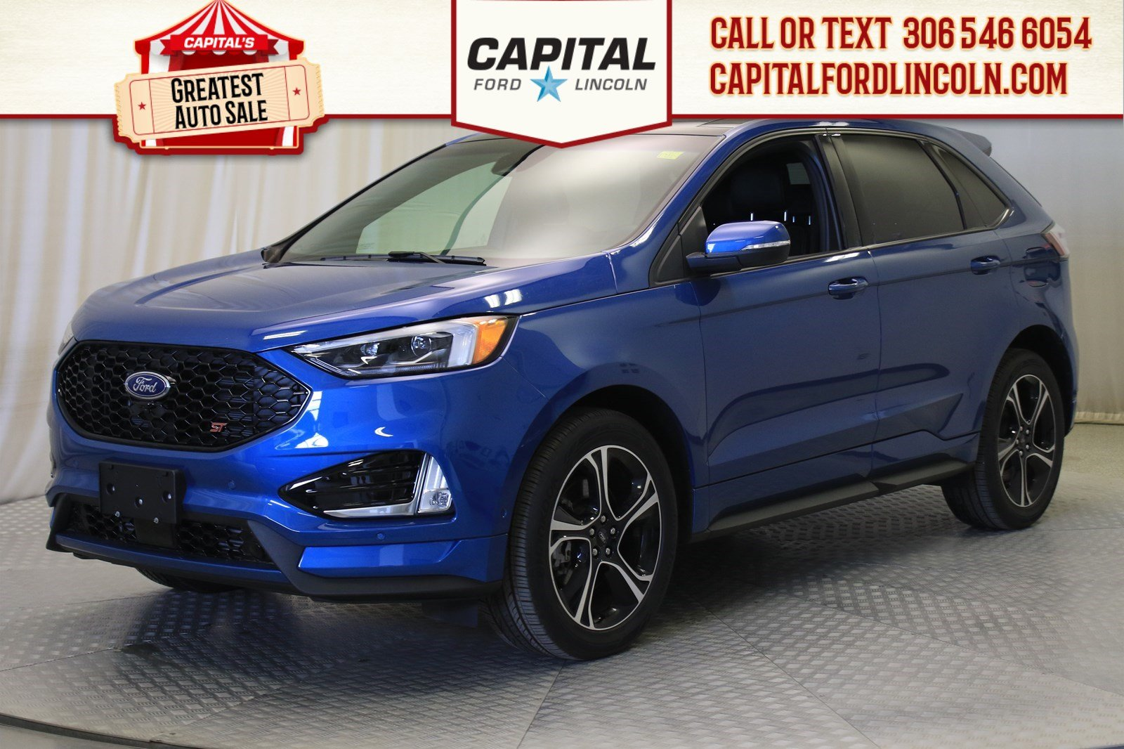 Pre-Owned 2019 Ford Edge ST AWD | 0% Financing | Twin Turbo |