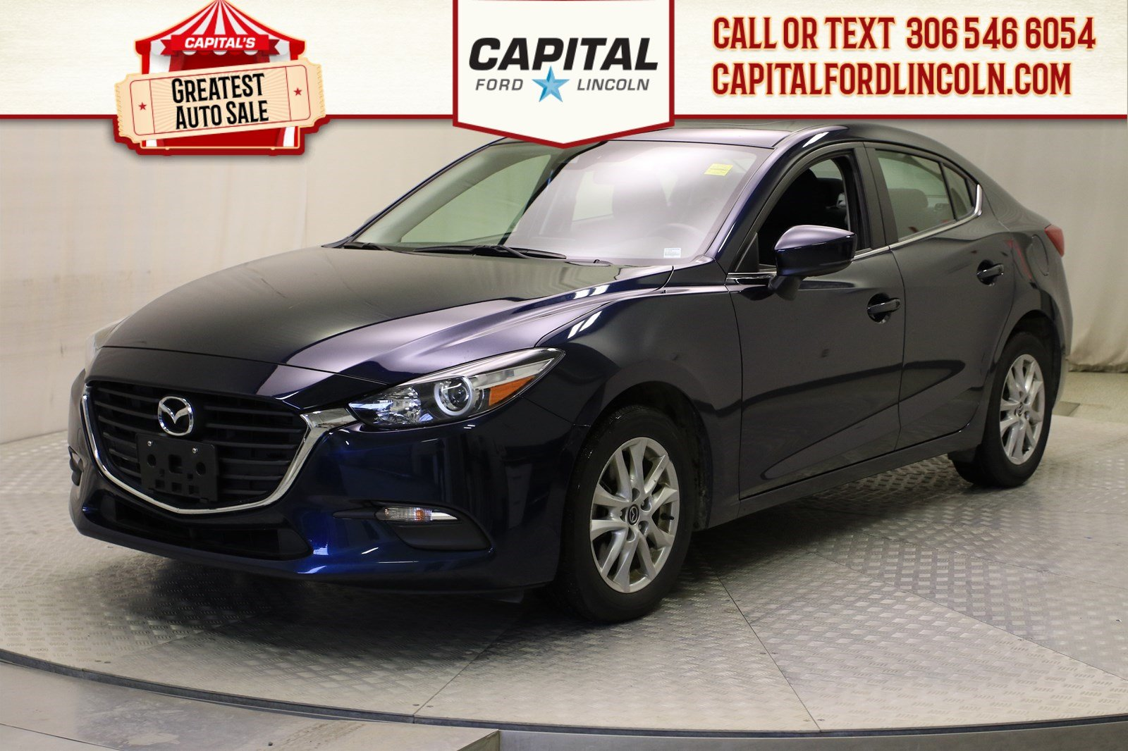 Pre-Owned 2018 Mazda3 GS | Sunroof |