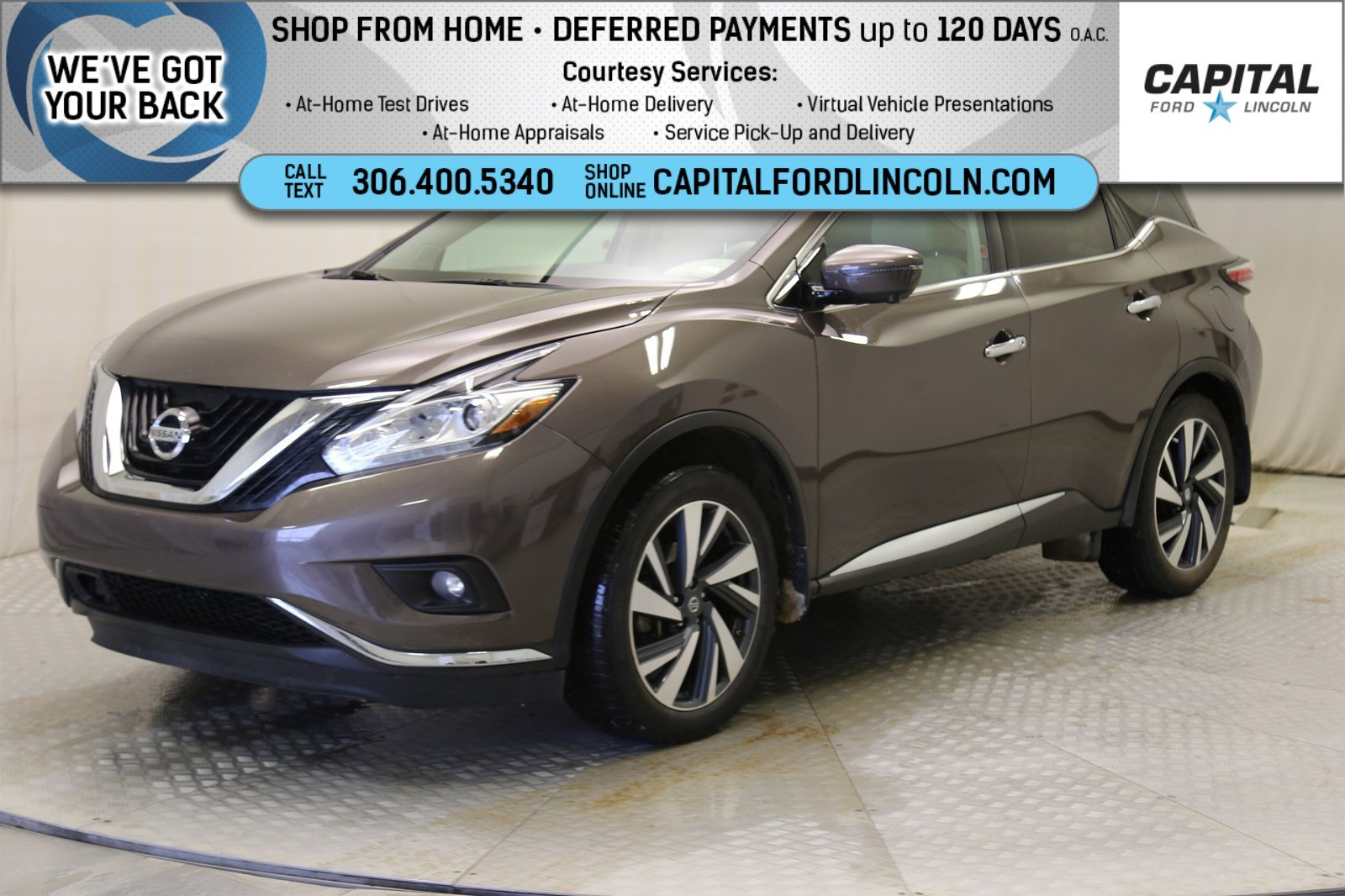 Pre-Owned 2017 Nissan Murano Platinum | Local Trade | Leather | Sunroof |