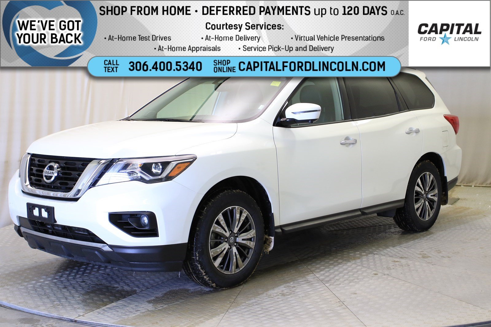 Pre-Owned 2019 Nissan Pathfinder | Leather | Sunroof | 3rd Row |