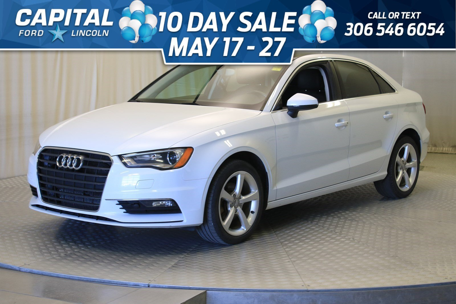 Pre-Owned 2015 Audi A3 TDI Komfort | Leather | Sunroof |