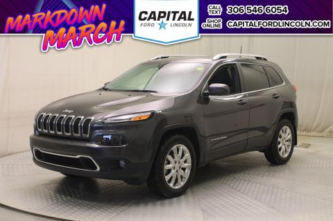 Pre-Owned 2017 Jeep Cherokee * Leather * Sunroof *