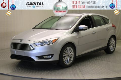 Pre-Owned 2018 Ford Focus Titanium HB | Leather | Sunroof | Navigation |