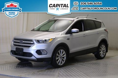 Pre-Owned 2018 Ford Escape Titanium 4WD * Leather * Sunroof * Nav *