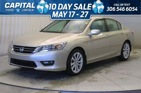 Pre-Owned 2015 Honda Accord Sedan Touring * Leather * Sunroof * V6 *