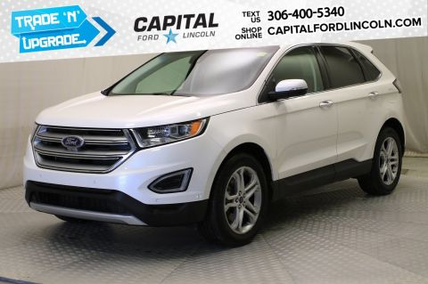 Pre-Owned 2016 Ford Edge Titanium AWD | Leather | Sunroof | Local Trade |