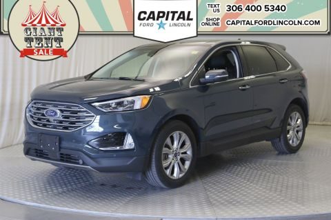 Pre-Owned 2019 Ford Edge Titanium AWD | Leather | Sunroof |