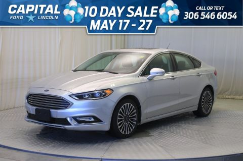 Certified Pre-Owned 2017 Ford Fusion SE AWD * Leather * Sunroof * Navigation *